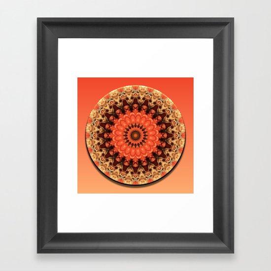 Pumpkin Kaleidoscope Framed Art Print