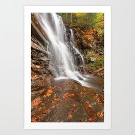 Autumn Ganoga Falls Art Print