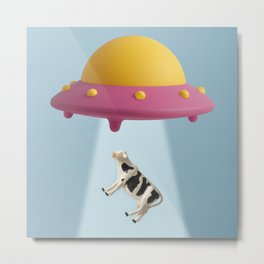 Abducted Cow Metal Print