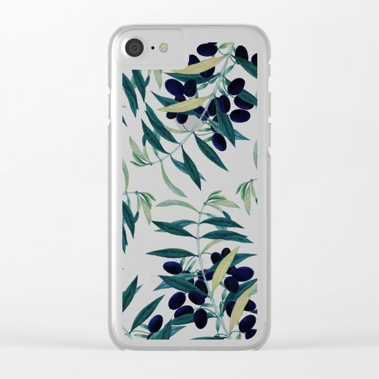 Olive Branch Pattern #society6 #decor #buyart Clear iPhone Case