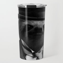 Sloth with Bowl Hat Travel Mug