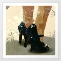 heels Art Prints featuring Heels by Tom Britton