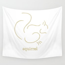 Squirell Wall Tapestry