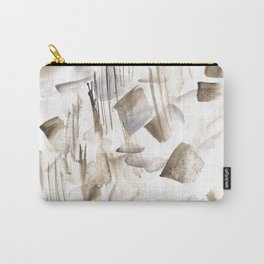 180630 Grey Black Brown Abstract Watercolour 2| Watercolor Brush Strokes Carry-All Pouch