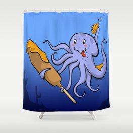Tako Dog Shower Curtain