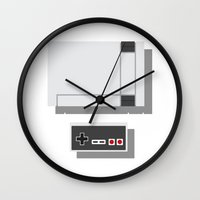 nintendo Wall Clocks featuring Nintendo by Di No