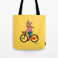 cycling Tote Bags featuring Sam's Cycling by BATKEI