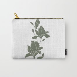 Botanical illustration line drawing - Magnolia Green Carry-All Pouch