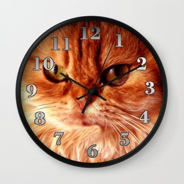 Orange Cat Wall Clock