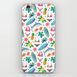 Dotty Summer Beach Pattern iPhone Skin