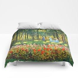 Claude Monet The Artist's Family In The Garden Comforters