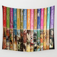 books Wall Tapestries featuring Books by christennoelle