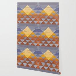 Pyramid Sun Mauve Purple Wallpaper