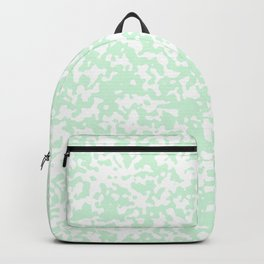 Small Spots - White and Pastel Green Backpack