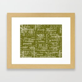 Holiday Word Cloud Framed Art Print