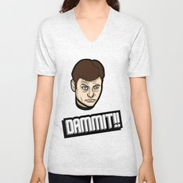 Dammit!! Unisex V-Neck