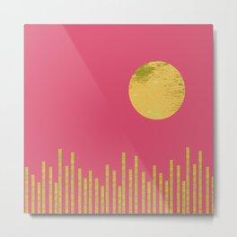 Yellow Moon Rising Metal Print
