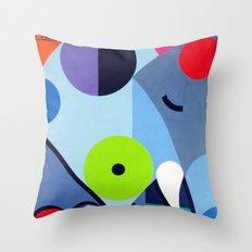 Elephant - Paint Throw Pillow