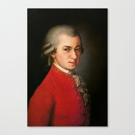 Wolfgang Amadeus Mozart (1756 -1791) by Barbara Krafft (1819) Canvas Print