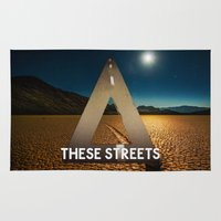 bastille Area & Throw Rugs featuring Bastille - These Streets by Thafrayer