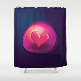 Heart Bubble Shower Curtain