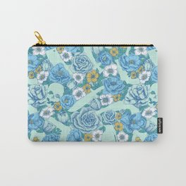 Weapon Floral-Blue Carry-All Pouch