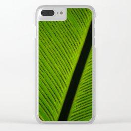 Leaf Spores Full Frame Clear iPhone Case