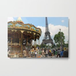 Carrousel à Paris Metal Print