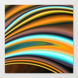 Abstract Fractal Colorways 01BR Canvas Print