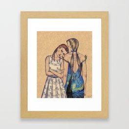 GIRLS IN DRESSES Framed Art Print
