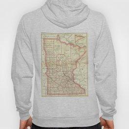Vintage Map of Minnesota (1893) Hoody