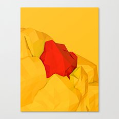 red gem of the golden mountain Canvas Print
