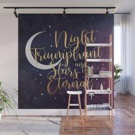 Night and Stars - ACOWAR Purple Wall Mural