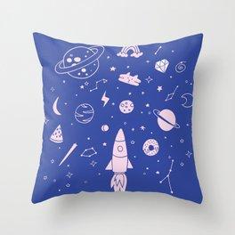 Come into my galaxy Throw Pillow