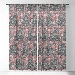 Best Wishes, Warmest Regards Sheer Curtain