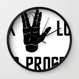 lax long and prosper Wall Clock