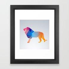 Glass Animal Series - Lion Framed Art Print