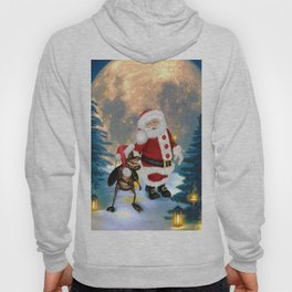 Merry christmas, Santa Claus with funny cockroach Hoody