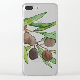 Olive leaf Clear iPhone Case