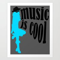 Music is cool Art Print