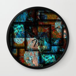 Electric Jumble Wall Clock