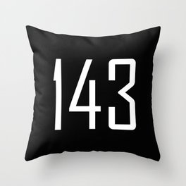143 I Love You  - Chat Shorthand - Fun Acronyms - Typography Sarcasm Throw Pillow