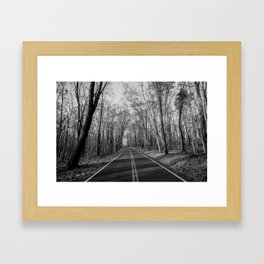 Road To Coopers Rock, WV Framed Art Print