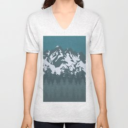 Trees and Mountains Unisex V-Neck
