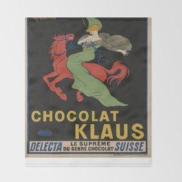 Vintage poster - Chocolat Klaus Throw Blanket