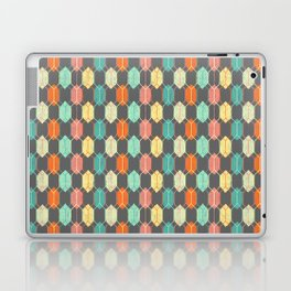Midcentury Hexagon Argyle on Grey Laptop & iPad Skin