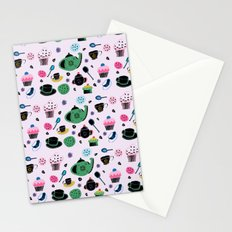 tea party light pink Stationery Cards