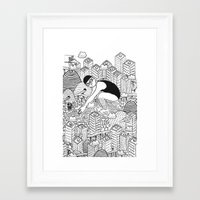 diver Framed Art Prints featuring Diver by millo
