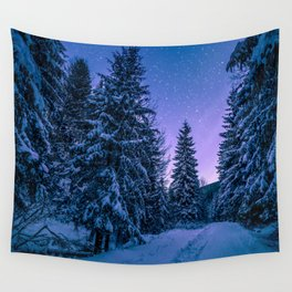 Cold Purple Nights Wall Tapestry