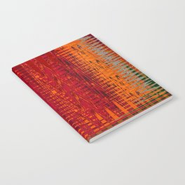 Warm red & turquoise Floor Pattern Art Notebook